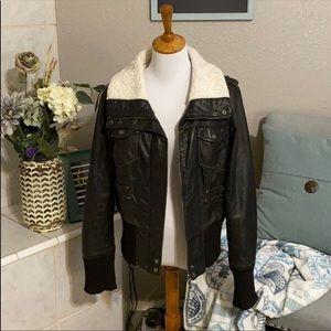 Bernardo brown bomber jacket size L